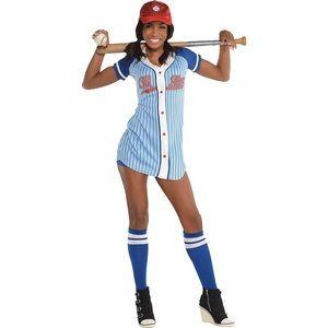 Girls Halloween Baseball Costume